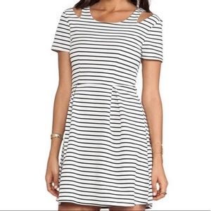 MINKPINK :: striped cut out skater dress